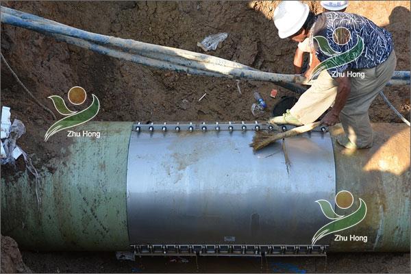 玻璃钢夹砂管修补案例