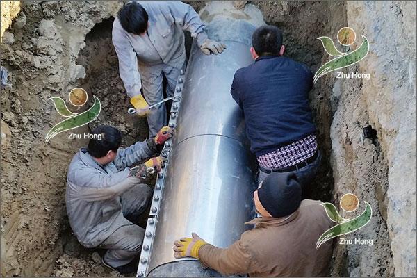 DN900铸铁管修复案例