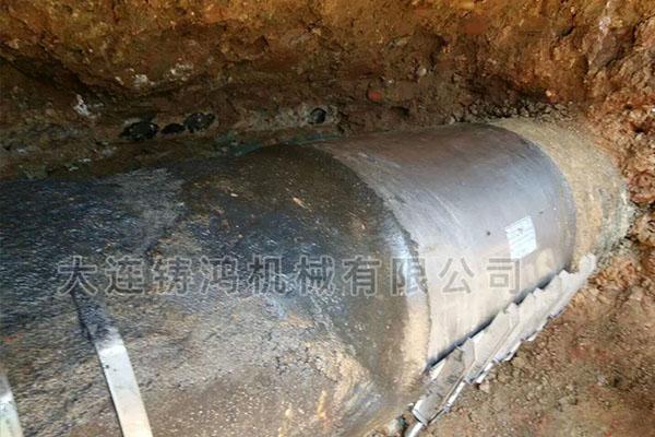 四川煤气管破裂修复实例
